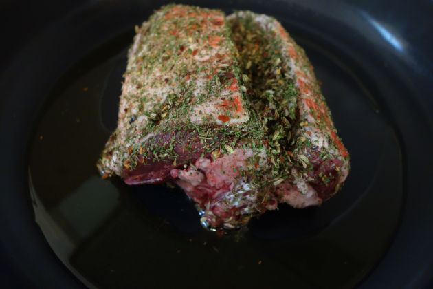 Rubbed lamb